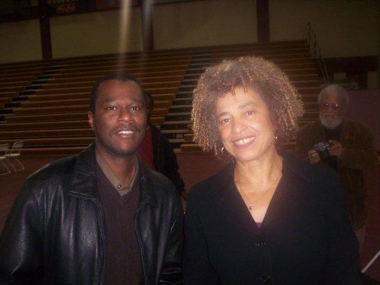 Posing with Angela Davis, April 2008