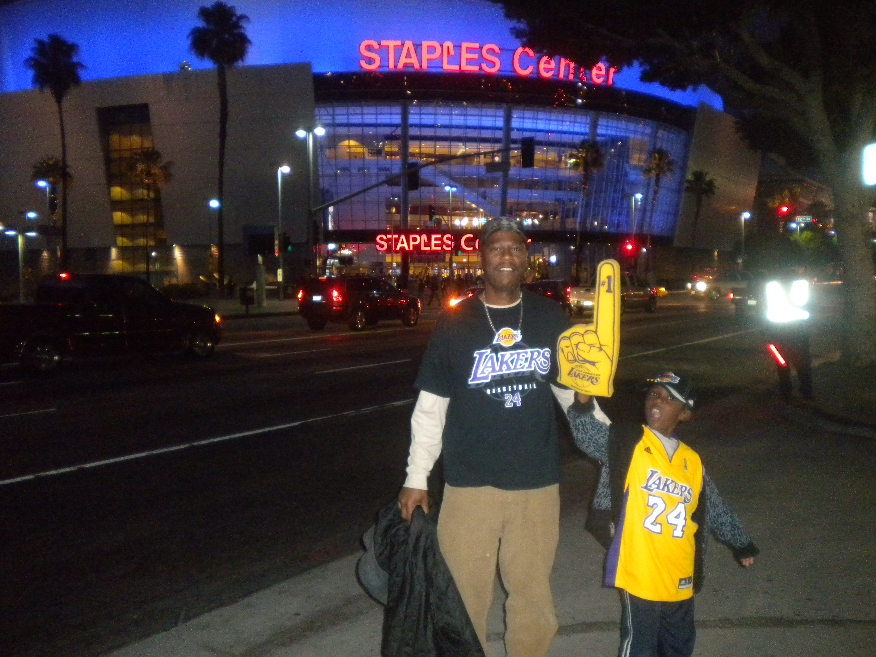 40 by 40 – Take my Son to a Lakers Game at Staples Center ...Lakers Game