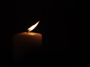 flickering candle